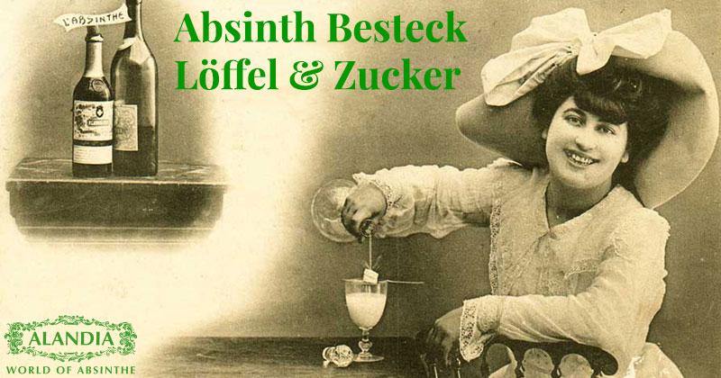 Absinth-Besteck: Absinthlöffel und Zucker